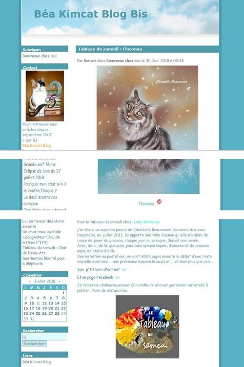 Juin 2018 - 1 article sur le blog de Béa Kimcat
