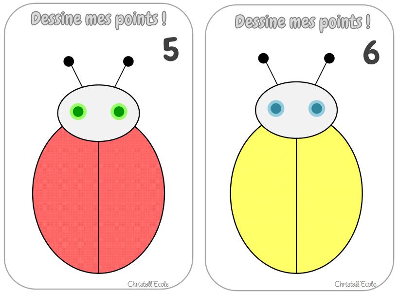 Top Les coccinelles : dessine mes points ! - Christall'Ecole FL76