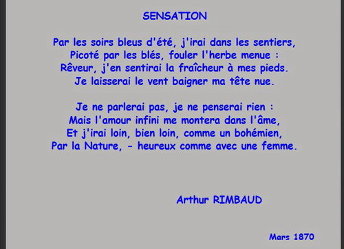 Sensation... Arthur Rimbaud