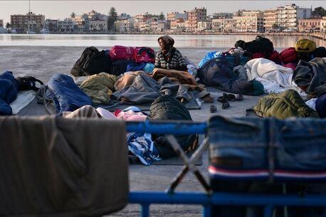 Réfugiés dans le port de Chios - 2016