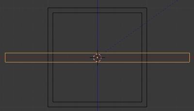 Étirer l'objet sur l'axe X