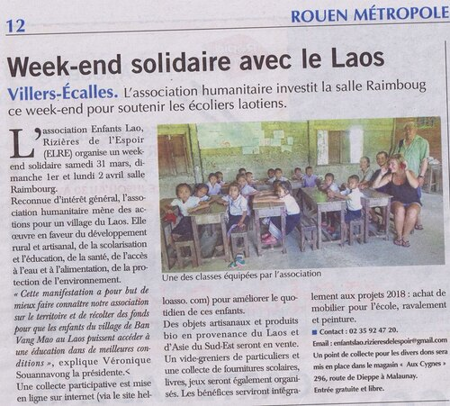 Article Paris Normandie - mars 2018