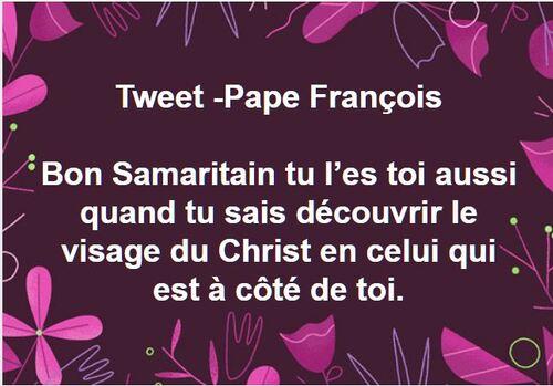 Tweet Pape François -