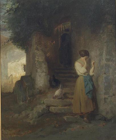 Femmes qui pleurent - en peinture