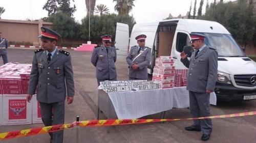 Tiznit: Saisie par la Gendarmerie Royale d'une importante quantité de cigarettes de contrebande