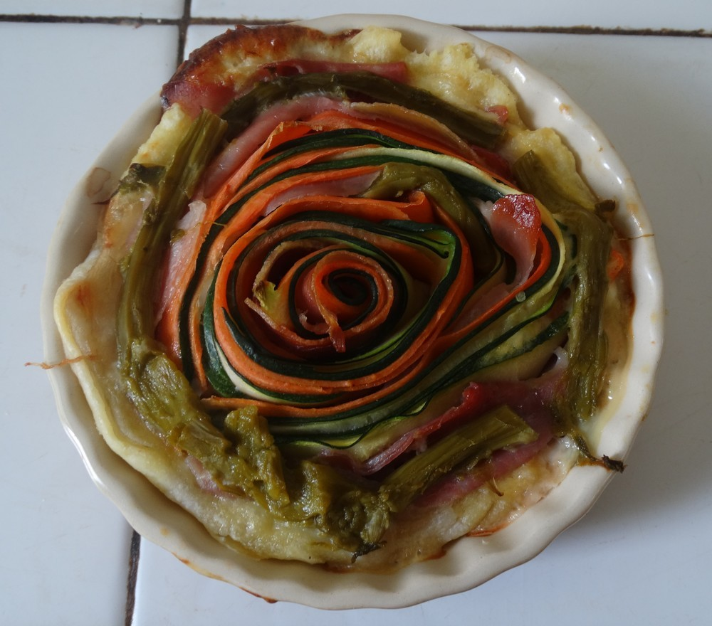 Tartelette fleur multicolore...