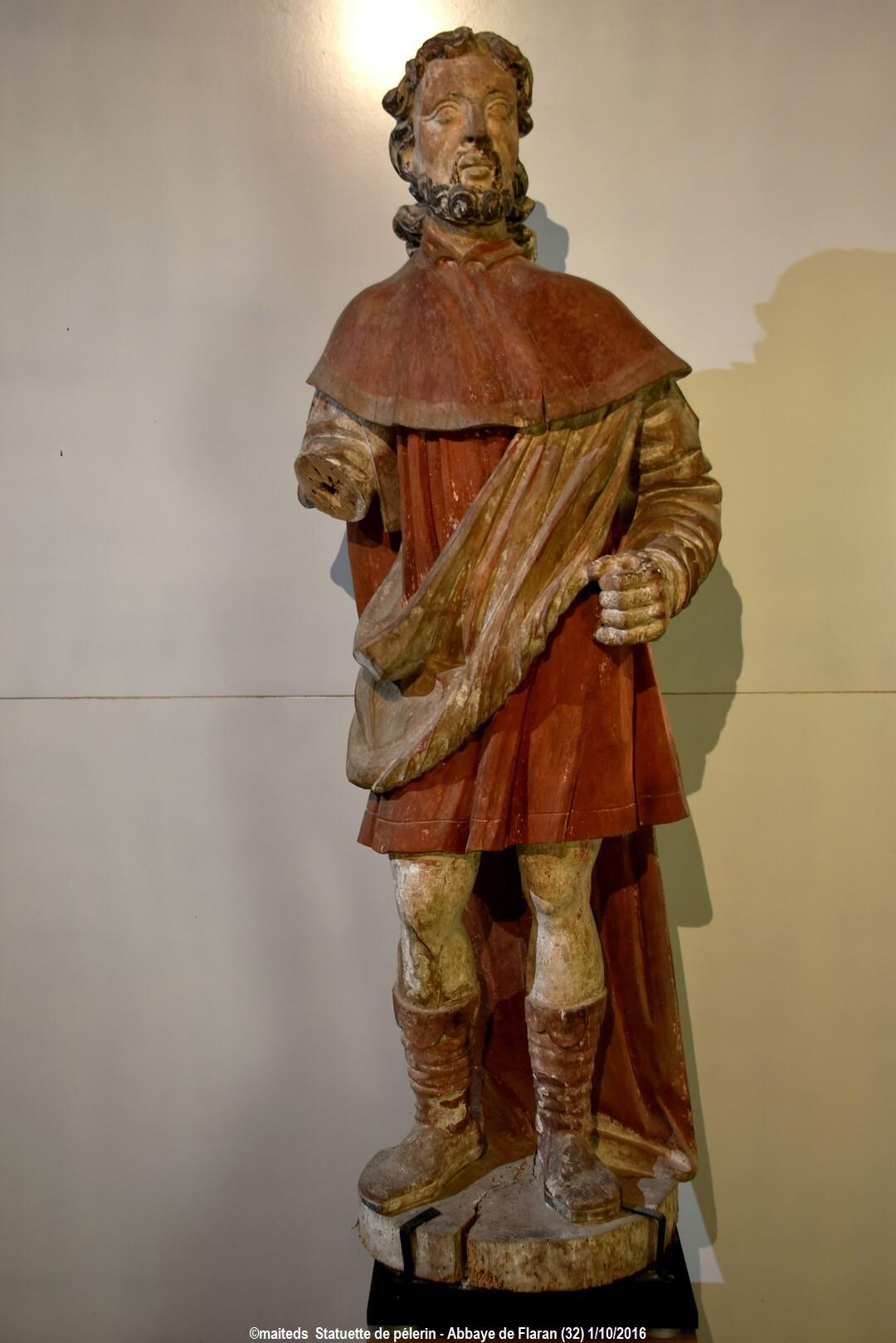 Statuette d'un pèlerin -  Abbaye de Flaran - Gers (4- suite et fin))