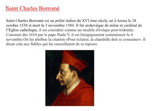 St Charles Borromée