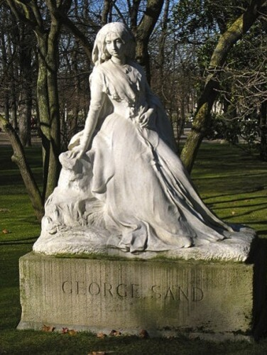 statue femme George Sand Sicard