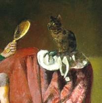chat au miroir Balthus
