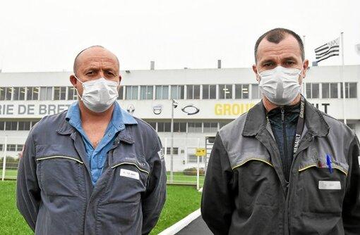 Maël Le Goff et Sébastien Joly ont été reçus au ministère de l'Économie, ce mercredi 21avril.