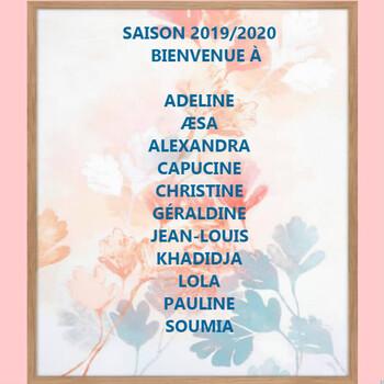 Saison 2019/2020 / LES INFOS /Sept/Oct 2019