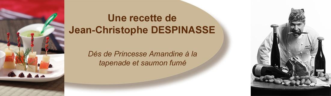 Dès de Princesse Amandine à la tapenade et saumon fumé
