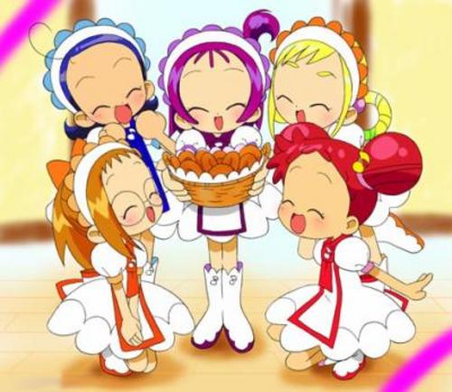Image des filles en pâtissières de la saison 3: Mo~tto! Ojamajo Doremi