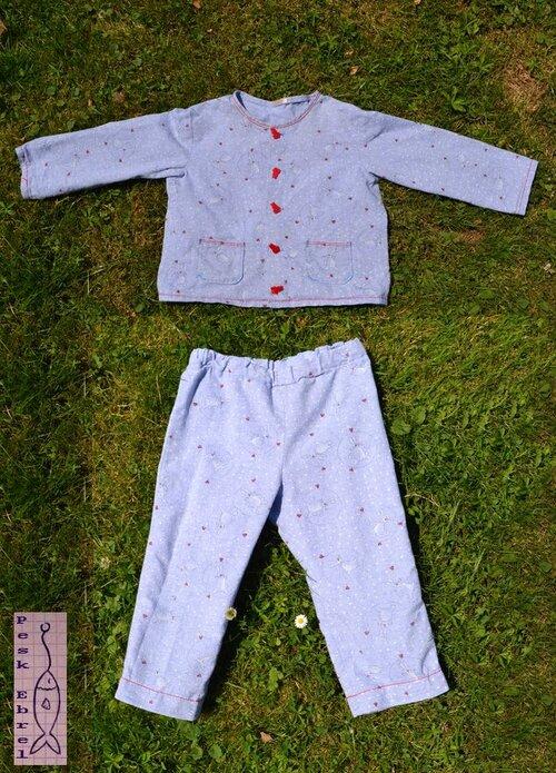 Pyjama d'hiver pour un p'tit lapin