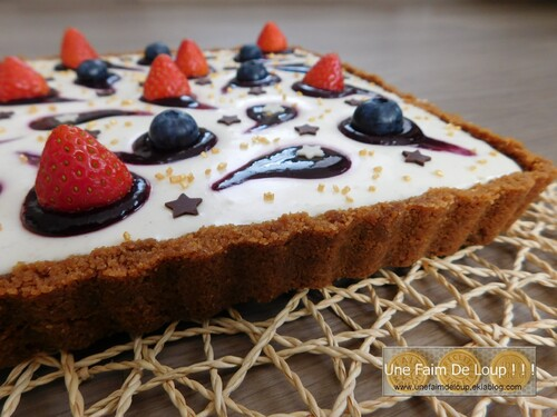 Cheesecake au chocolat blanc & fruits rouges