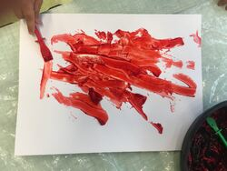 Traces de peintures