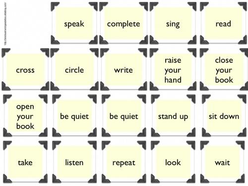 Top Jeux pour travailler les consignes en anglais - Le remue-méninges  WO64