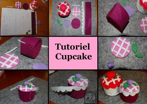 CoutureTutoriel Cupcake feutrine loisirs creatifs patron