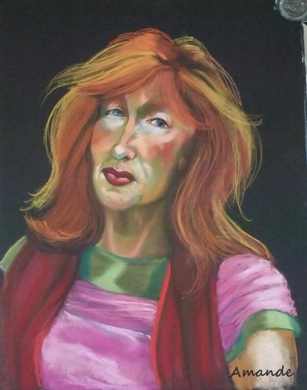 Mercredi - Portrait (coloré) d'une artiste