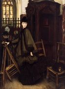 In Church - James Jacques Joseph Tissot - www.jamestissot.org