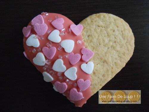 Cœurs sablés au chocolat blanc