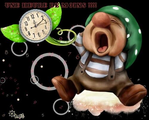 On dort une heure de moins