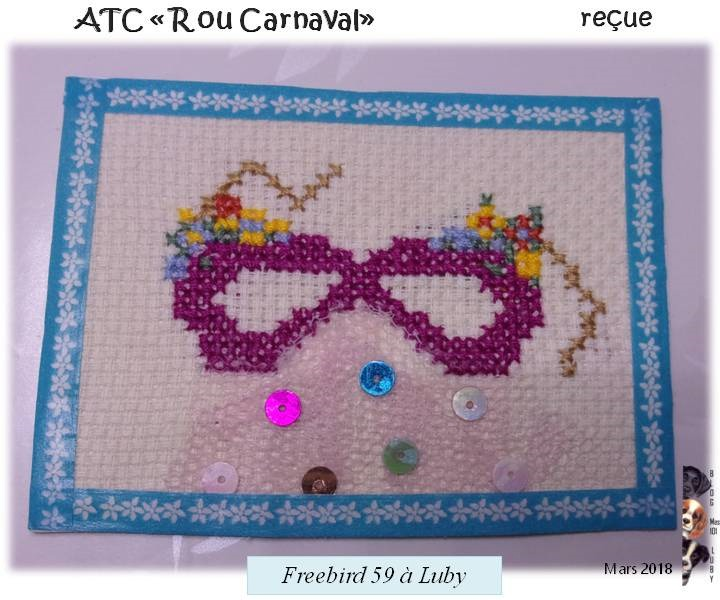"""ATC """"Lettre R ou Carnaval"""""""