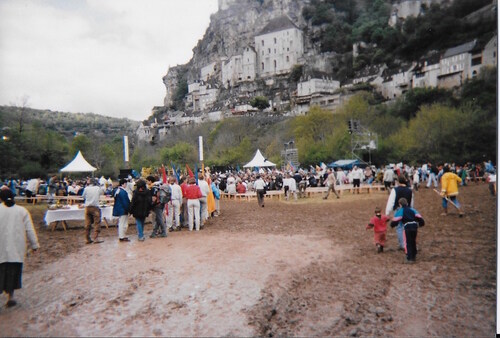 Bénédiction de cloches à Rocamadour au printemps 1995