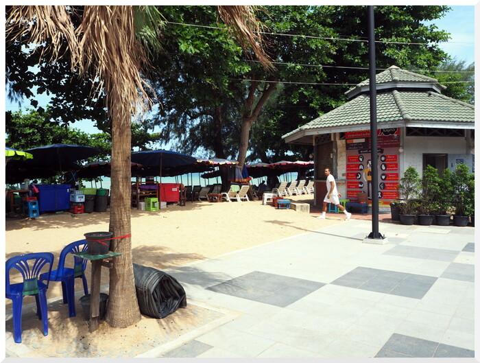 Photos de Thaïlande.  Dongtan, après les travaux.