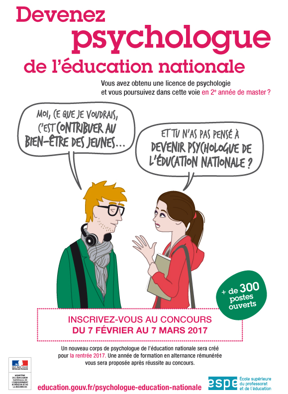 Les psychologues de l'Education Nationale