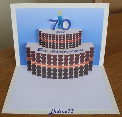 Banderole et carte d'anniversaire - carte -2