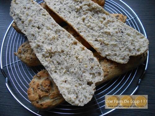 Baguettes aux céréales & graines