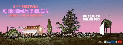 Bannière Festival du Cinéma belge à Nîmes et en Garrigue