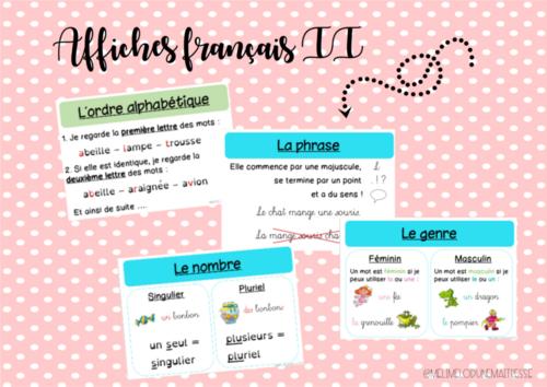 Affichages français II 4P