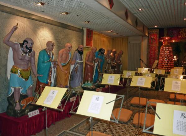 Amicale des THeochew en France temple 9 luohans parmi les 1