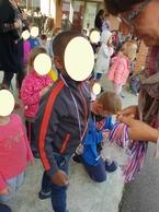 """Les élèves de maternelle font leur """"triathlon"""""""