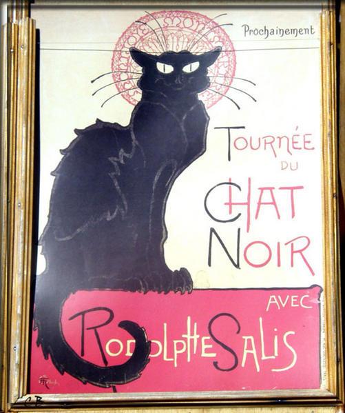 Paris affiche Steinlein le chat noir