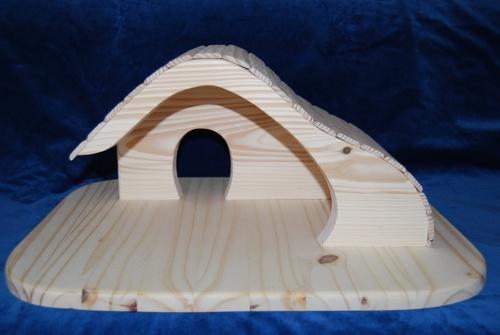 maison ou ferme, hauteur 23 cm, longueur 50 cm, largeur 43 cm