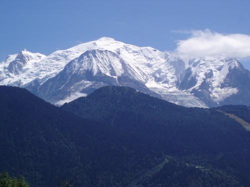 le Mont Blanc vu de St Gervais