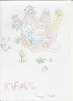 coloriages et dessins : l'écureuil des Animots Rigolos