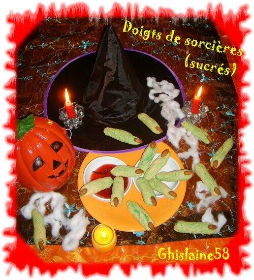 Doigts de sorcières (sucrés)