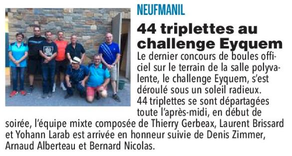 Neufmanil - Concours du 8 septembre 2018