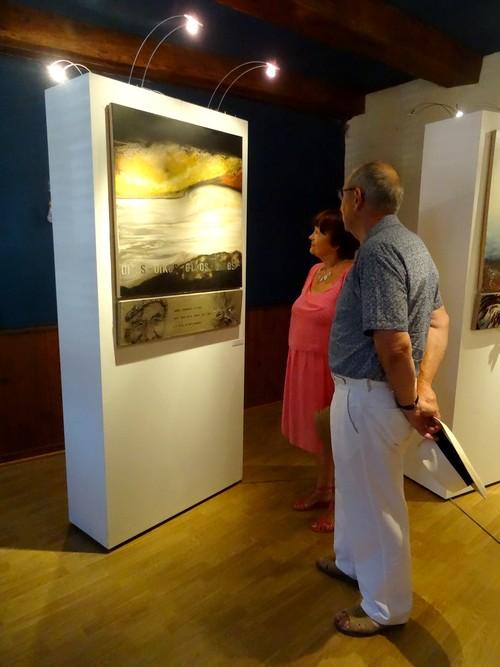 Isabelle Tristan-Coudrot expose à l'Office du Tourisme de Recey sur Ource