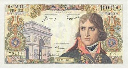 LE BILLET 10 000 FRANCS BONAPARTE