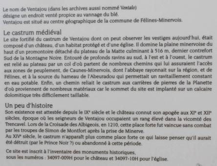 Archéo-balade sur le site du castrum de Ventajou
