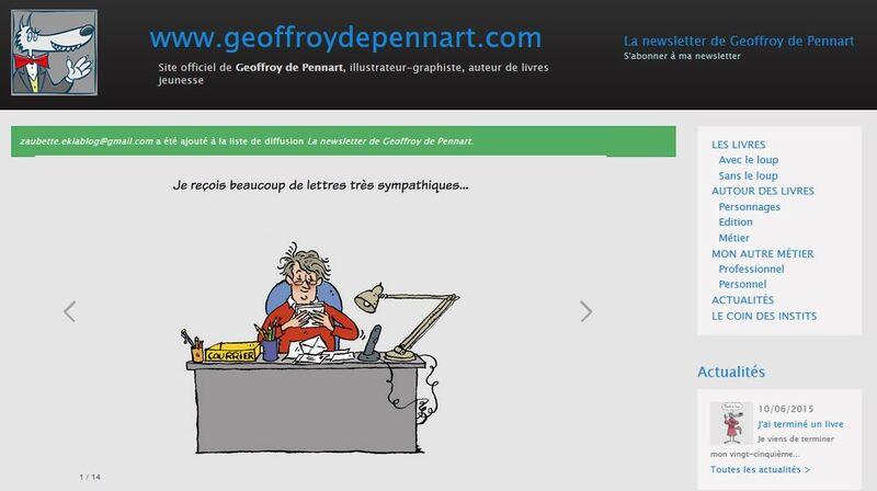 Geoffroy de Pennart....le site !
