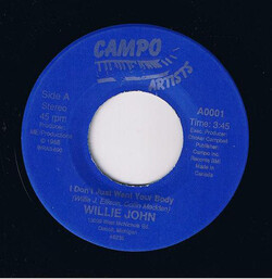 Willie John - I Don't Just Want Your Body