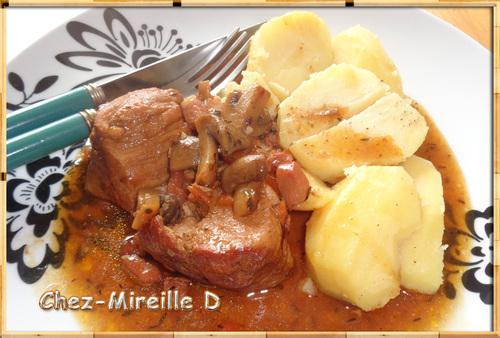 Sauté de Porc aux Lardons et aux Champignons