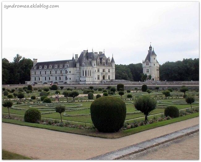 Le château de Chenonceau et son jardin